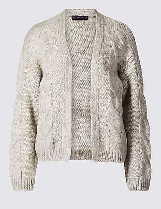 M&S Collection Textured Open Front Cardigan