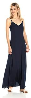Armani Exchange A|X Women's Spaghetti Strap V Neck Woven Maxi Dress