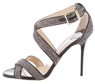 Jimmy Choo Woven Ankle Strap Sandals