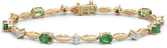 JCPenney FINE JEWELRY Lab-Created Emerald & Diamond-Accent Bracelet