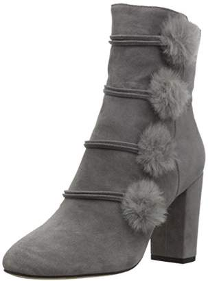 The Fix Womens Lyla Poms Ankle Bootie