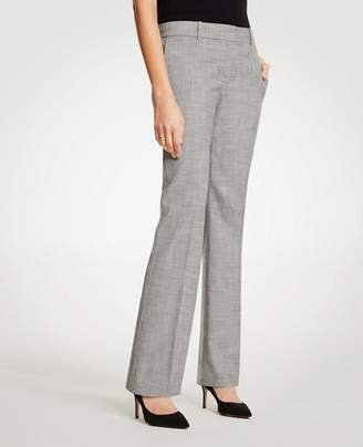 Ann Taylor The Petite Straight Leg Pant In Crosshatch - Curvy Fit