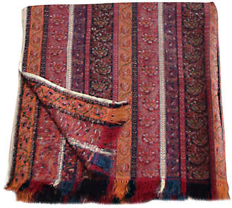 One Kings Lane Vintage Antique Handloomed Paisley Throw - Laurie Frank