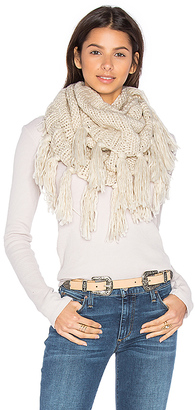 Hat Attack Fringe Double Loop Scarf in Beige. $74 thestylecure.com