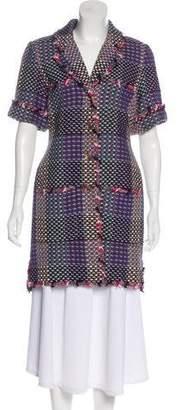 Chanel Tweed Short Sleeve Coat