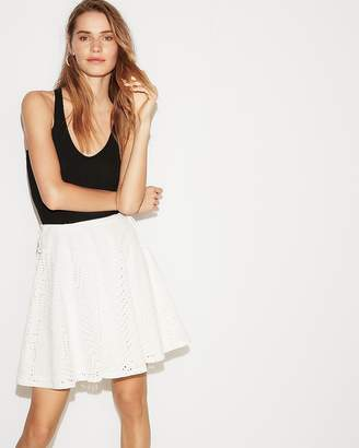 Express Side Tie Flared Skirt