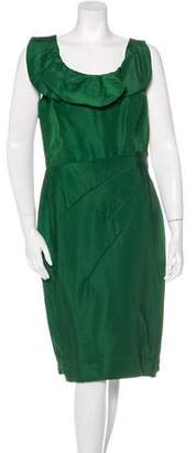 Oscar de la Renta Silk Sheath Dress w/ Tags