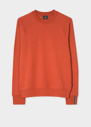 Paul Smith Men's Burnt Orange Cotton Raglan Sweatshirt