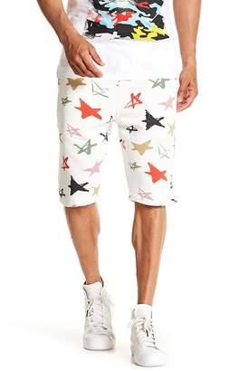 Antony Morato Print Drawstring Fleece Shorts
