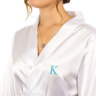 Cathy's Concepts CATHYS CONCEPTS Personalized With Necklace Set Satin Kimono Robes