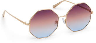 Henri Bendel Diana Hexagon Sunglasses