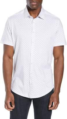 Stone Rose Regular Fit Print Knit Sport Shirt
