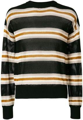 Laneus long sleeved stripe pullover