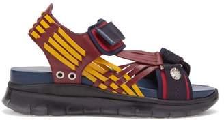8536de97796e Toga Tri Colour Nylon Strap Sandals - Womens - Navy Multi