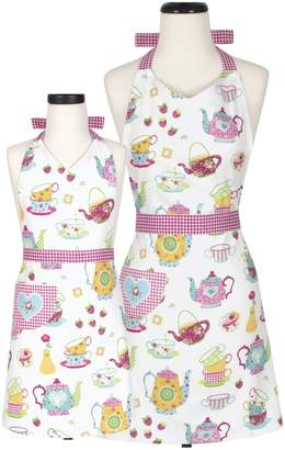 Handstand Kitchen Tea Party Adult & Kid Apron Set