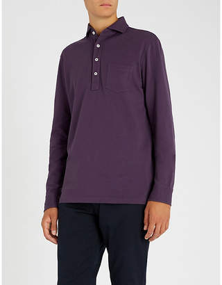 Ralph Lauren Purple Label Cutaway collar cotton-piqué polo shirt