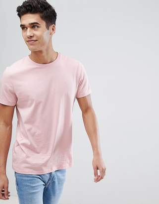 Asos Design Crew Neck T-Shirt In Pink