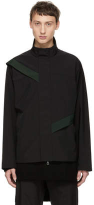 Kiko Kostadinov Black Gaetan Cut Through Jacket