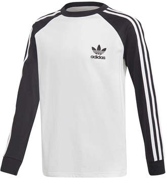adidas Big Boys 3-Stripe Raglan Cotton Shirt