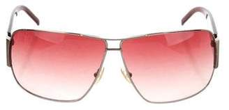 Saint Laurent Metallic Aviator Sunglasses