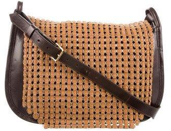Tory BurchTory Burch Leather Woven Mesh Messenger Bag