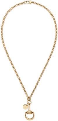 Gucci Horsebit necklace with pendant
