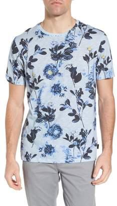 Ted Baker Doberma Trim Fit Floral Print T-Shirt