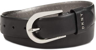 DKNY Plus-Size Belt With Metal Logo Letters