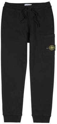 Stone Island Black Cotton Jogging Trousers