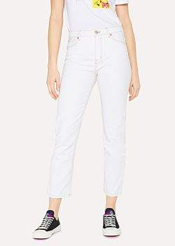 Paul Smith Women's Cream Denim Boyfriend-Fit Jeans