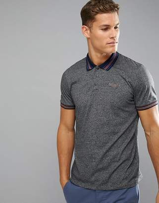 Ted Baker Golf Polo With Contrast Collar