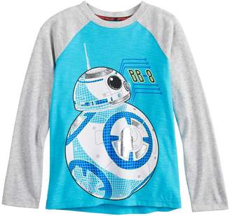 Star Wars A Collection For Kohls Boys 4-8 a Collection for Kohl's BB-8 Raglan Tee