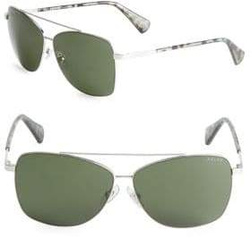 Ralph Lauren Tinted Square Aviators Sunglasses