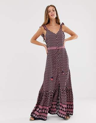Raga Avah paisley border print maxi dress