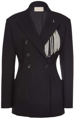 Christopher Kane Tailored Jacket with Crystal Embellishment