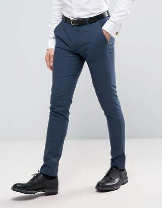 ASOS WEDDING Super Skinny Suit Pants in Petrol Blue $64 thestylecure.com
