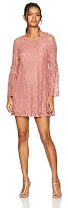 Speechless Bell Sleeve Lace Shift Dress (Junior's)