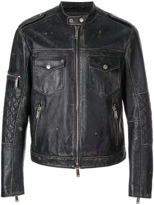 DSQUARED2 zipped leather jacket