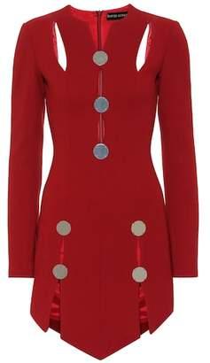 David Koma Embellished wool-blend minidress