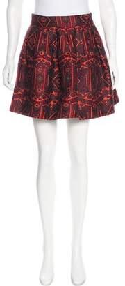 Alice + Olivia Jacquard Mini Skirt
