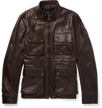 Belstaff Slim-Fit Leather Jacket