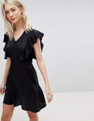 Vero Moda Ruffle Shoulder Skater Dress