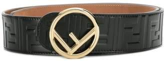 Fendi buckled logo-embossed belt