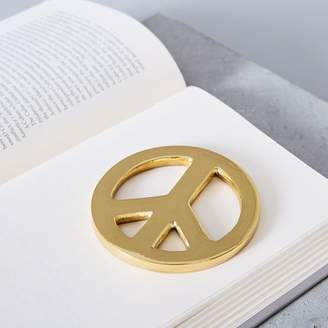 west elm Brass Peace Sign Object