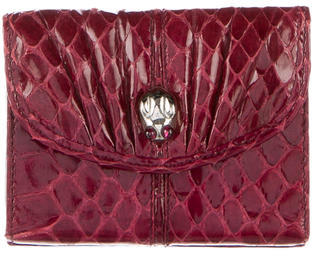 Judith Leiber Python Compact Coin Purse $130 thestylecure.com