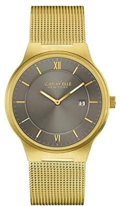 Caravelle New York Men's Quartz Watch with Stainless-Steel Strap