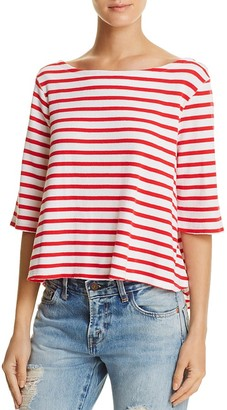 Free People Cannes Stripe Tee $68 thestylecure.com