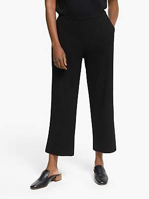 Eileen Fisher Straight Cropped Trousers, Black