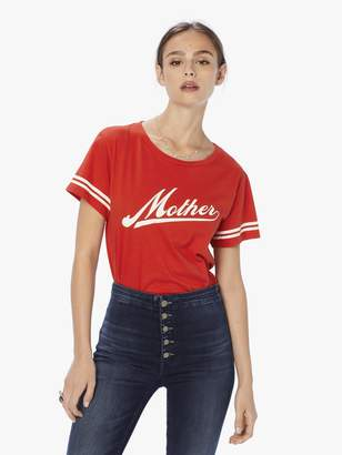 Mother Denim The Lil Goodie Goodie Script Bright Red