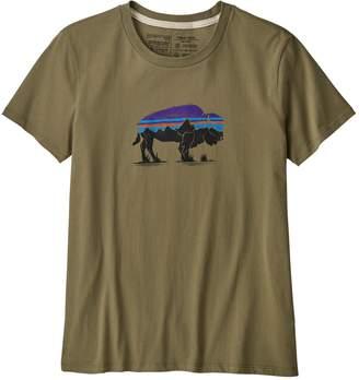 Patagonia Women's Fitz Roy Bison Organic Cotton Crew T-Shirt